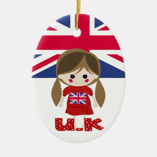 International - British Girl - SRF Ceramic Ornament