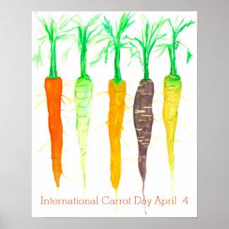 International Carrot Day April 4 Poster