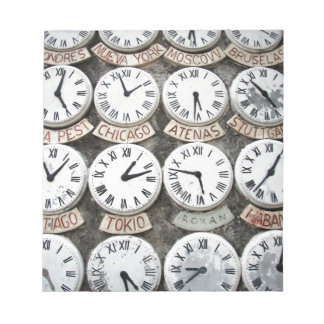 International Clocks Notepad