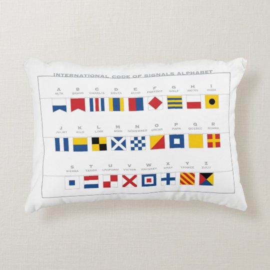 International Code of Signals Alphabet Decorative Cushion