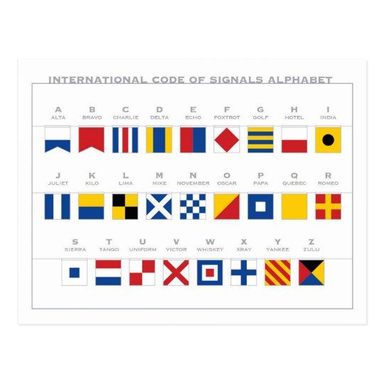 International Code of Signals Alphabet Postcard