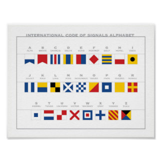 International Code of Signals Alphabet Poster