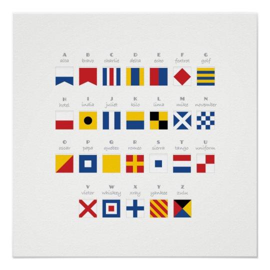 International Code of Signals Alphabet Poster