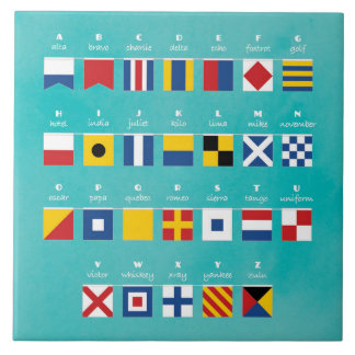 International Code of Signals Alphabet Tile