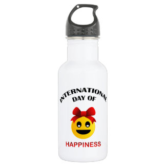 International Day of Happiness 532 Ml Water Bottle