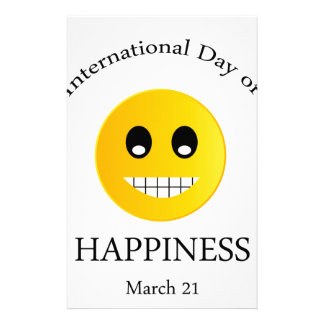 International Day of Happiness- Commemorative Day Personalized Stationery
