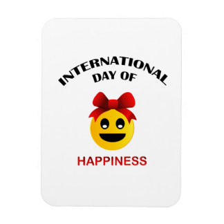 International Day of Happiness Rectangular Photo Magnet