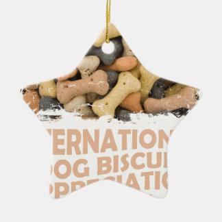 International Dog Biscuit Appreciation Day 1 Ceramic Ornament