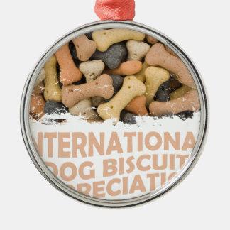 International Dog Biscuit Appreciation Day 1 Metal Ornament