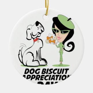 International Dog Biscuit Appreciation Day Ceramic Ornament