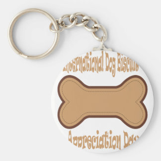 International Dog Biscuit Appreciation Day Key Ring