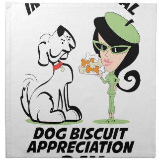 International Dog Biscuit Appreciation Day Napkin