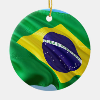 International Flag Brazil Ceramic Ornament