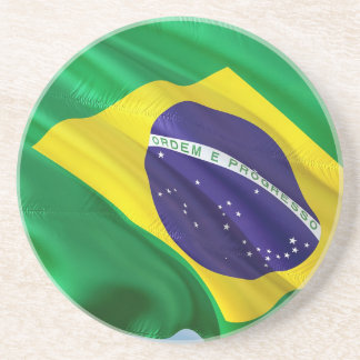 International Flag Brazil Coaster
