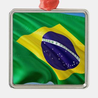 International Flag Brazil Metal Ornament