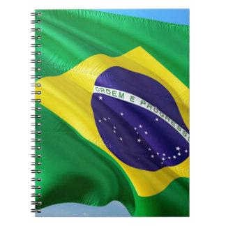 International Flag Brazil Notebook