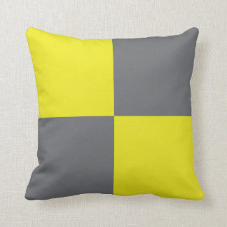 International Flag Code pillow- Letter L (Lima) Cushion