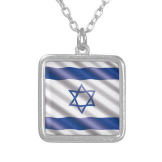 International Flag Israel Silver Plated Necklace