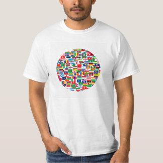 International Flags Pattern T-Shirt