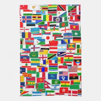 International Flags Pattern Towels