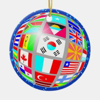 International Flags - SRF Round Ceramic Decoration