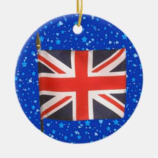 International Flags - UK Round Ceramic Decoration