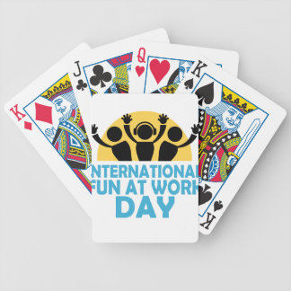 International Fun At Work Day - Appreciation Day Bicycle Playing Cards
