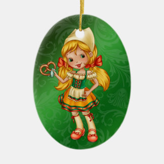 International - German Girl - SRF Ceramic Ornament