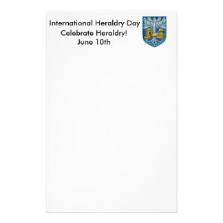 International Heraldry Day Personalised Stationery