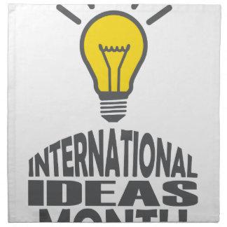 International Ideas Month - Appreciation Day Cloth Napkins