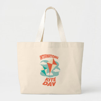 International Kite Day - Appreciation Day Large Tote Bag