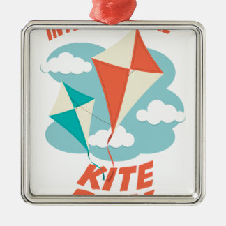 International Kite Day - Appreciation Day Metal Ornament