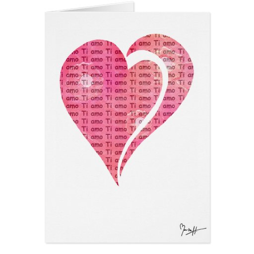 International Love - Italian Card