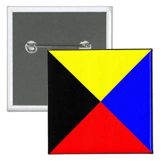 International maritime signal flag letter nautical 15 cm square badge