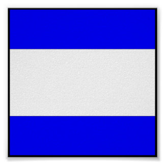 International maritime signal flag letter nautical poster