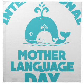 International Mother Language Day - 21st February Napkin