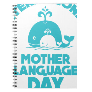 International Mother Language Day - 21st February Spiral Note Book