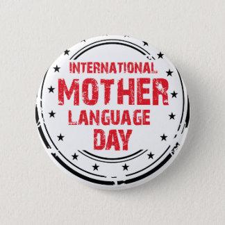 International Mother Language Day 6 Cm Round Badge