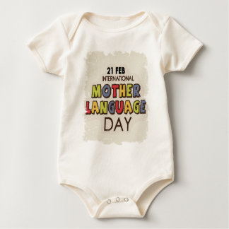 International Mother Language Day-Appreciation Day Baby Bodysuit
