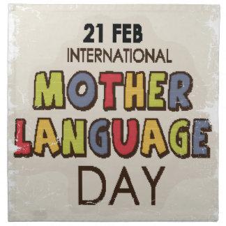 International Mother Language Day-Appreciation Day Napkin