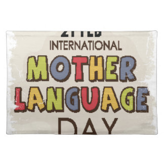 International Mother Language Day-Appreciation Day Placemat