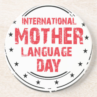 International Mother Language Day Coaster