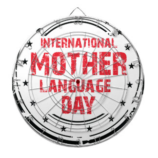International Mother Language Day Dartboard With Darts