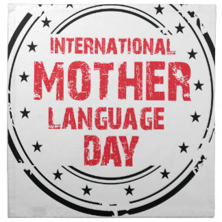 International Mother Language Day Napkin