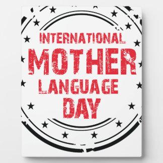International Mother Language Day Plaque
