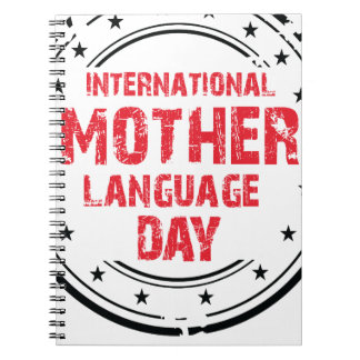 International Mother Language Day Spiral Notebook
