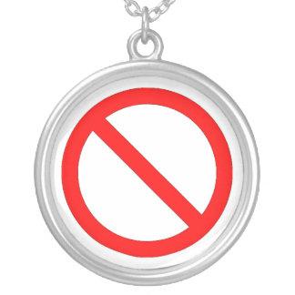 International No sign Round Pendant Necklace