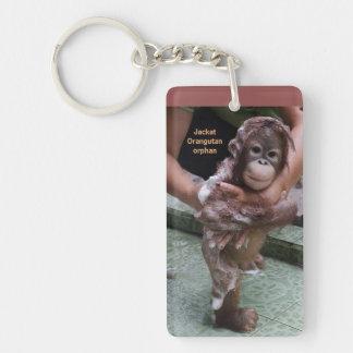 International Orangutan Day Cute Baby Jackat Key Ring