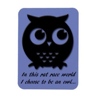 International Owl Day-4th August-Endangered Specie Rectangular Photo Magnet