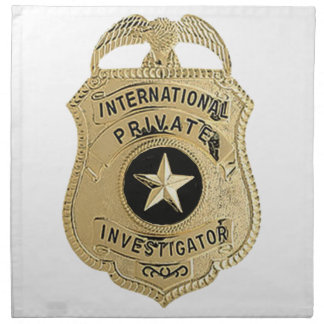 International Private Investigator Napkin